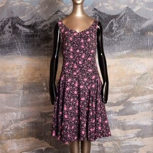 Betsey Johnson Asymmetrical Floral Dress